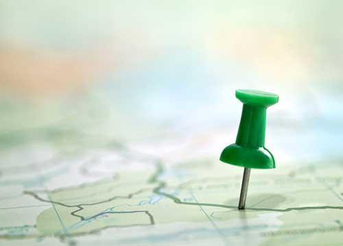 International homeschool location map with pin